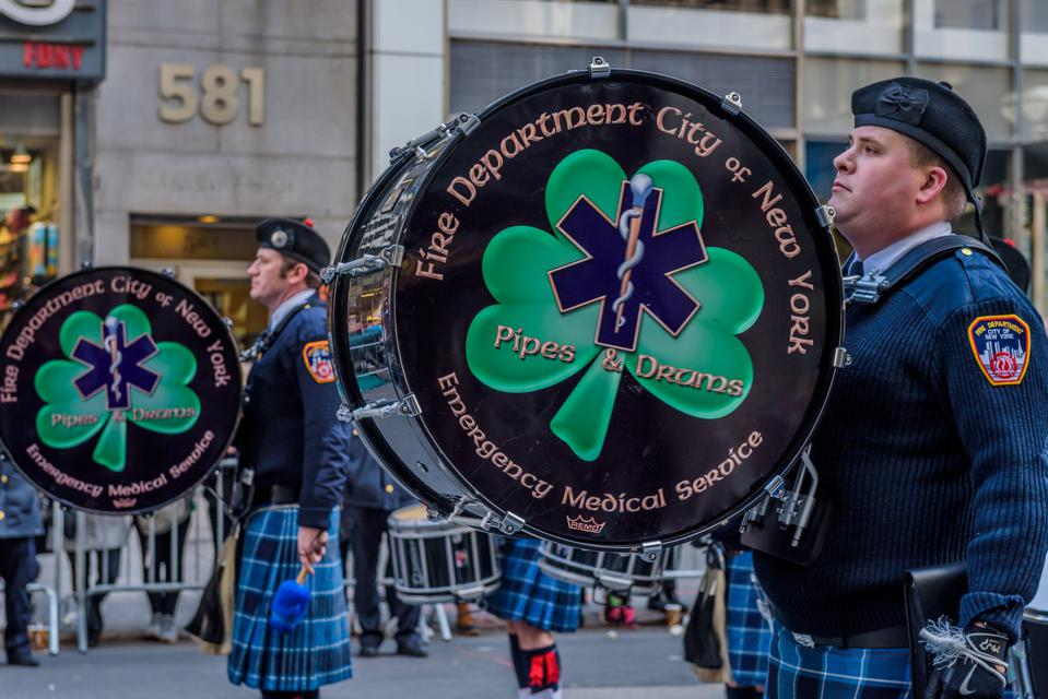 The NYC Saint Patrick's Day Parade. Along the parade route...