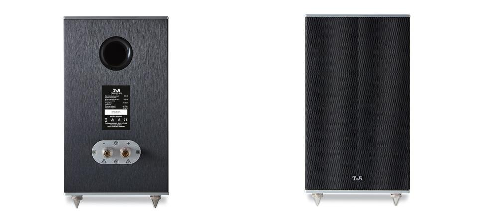 T+A Caruso R 10 speakers front and back view