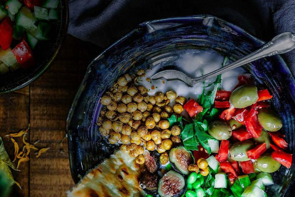 A Middle Eastern dish with yummy olives.