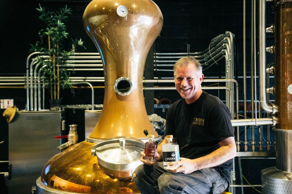 ReBru Spirits co-founder Dennis O'Connor at the distillery