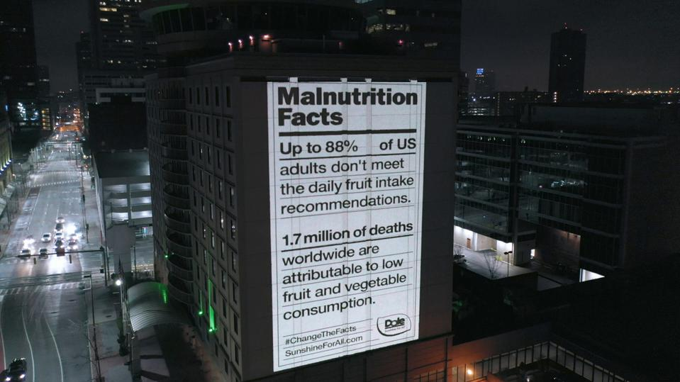 Dole's campaign to educate the public about malnutrition