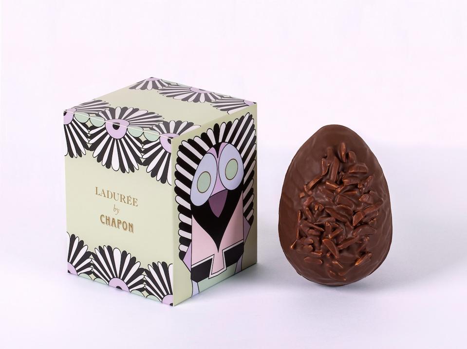 chocolate egg and box