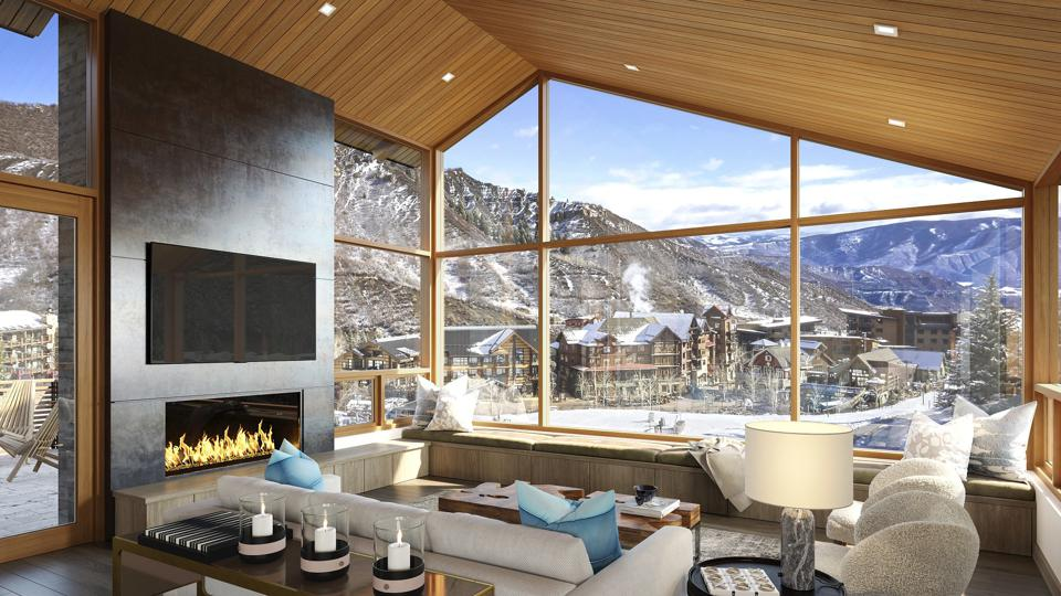 living area inside the havens new ski-in/ski-out development snowmass colorado resort