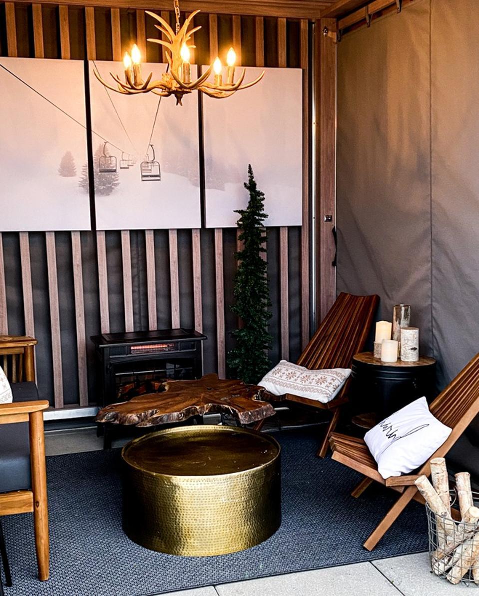 Luxe winterized cabana.
