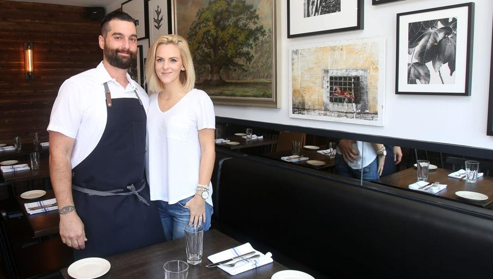 Christina and Matt Safarowic, husband and wife local business owners of The Whitlock restaurant and Jay Street Cafe in Katonah.