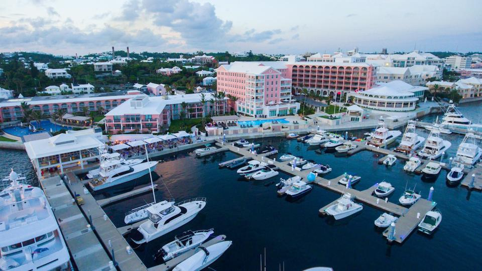 Opened in 1885, the iconic Hamilton Princess & Beach Club, known in Bermuda as the ″Pink Palace,″ has its own marina and is one of the island's most famous hotels.