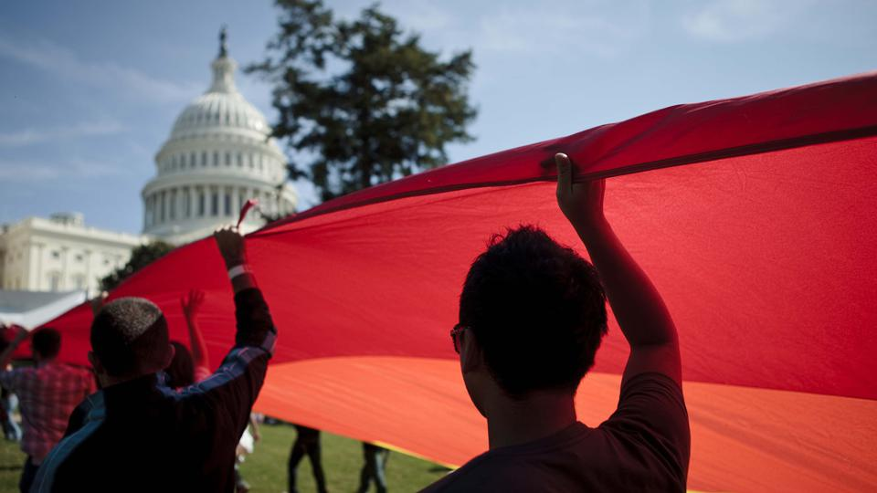 Gay Rights Supporters March On Washington For Equality And Marriage Rights