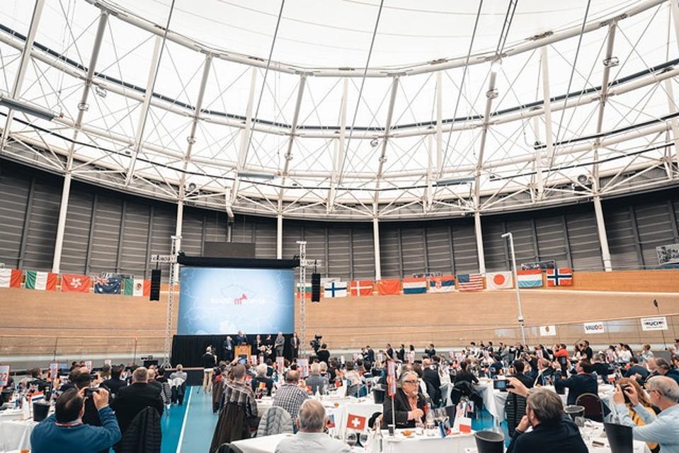 Concours Mondial de Bruxelles tasting session in Aigle, Switzerland, in 2019.