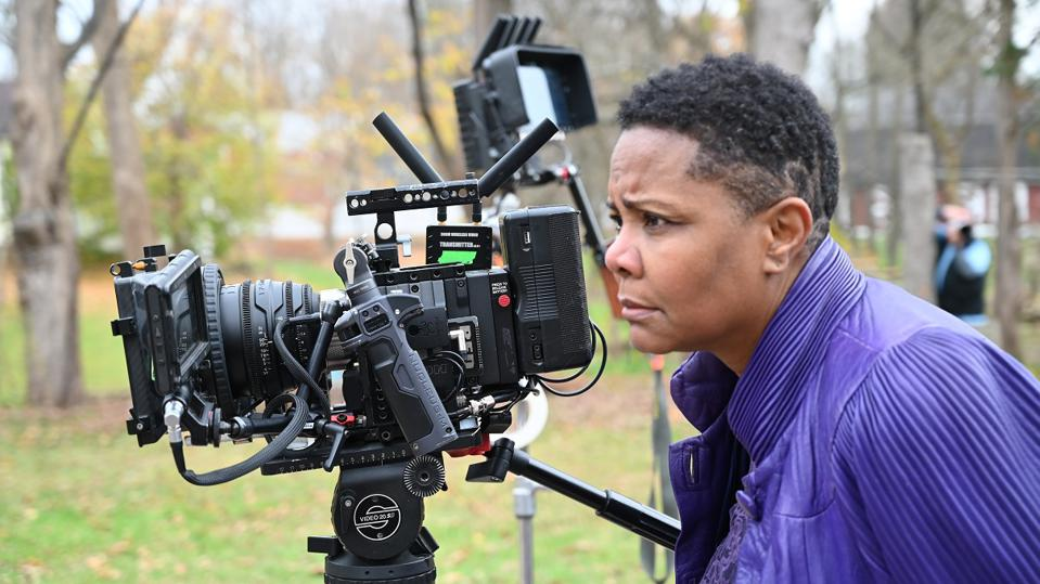 Actress Tony Pinkins, behind the scenes of her film Red Pill.