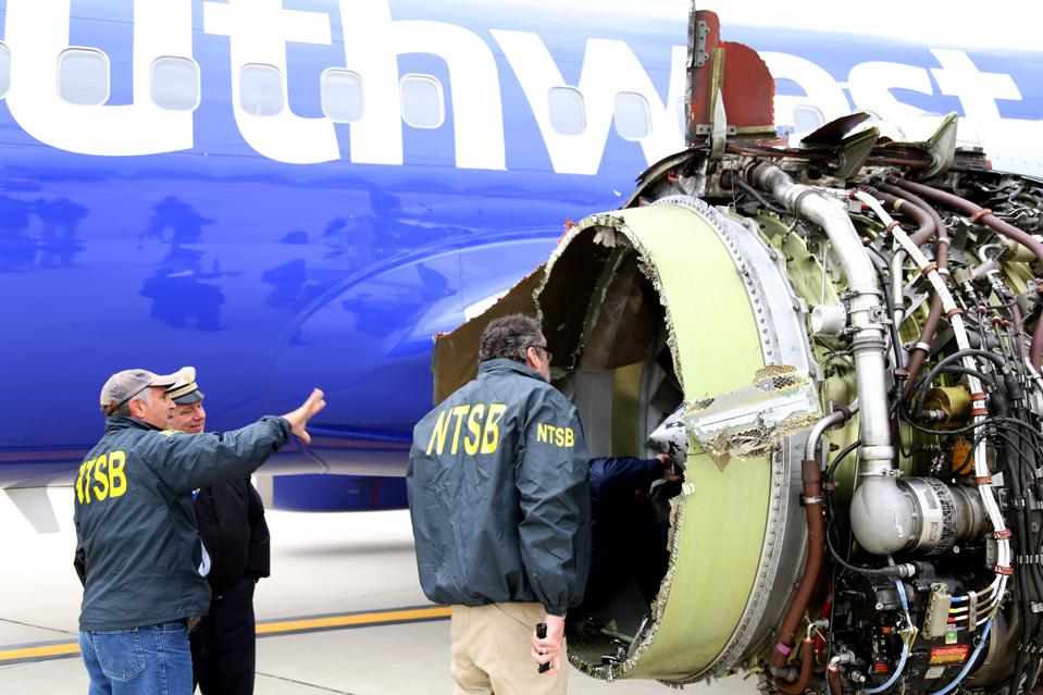 NTSB Investigates Deadly Southwest Engine Failure