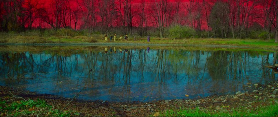 The landscape depicted in Red Pill
