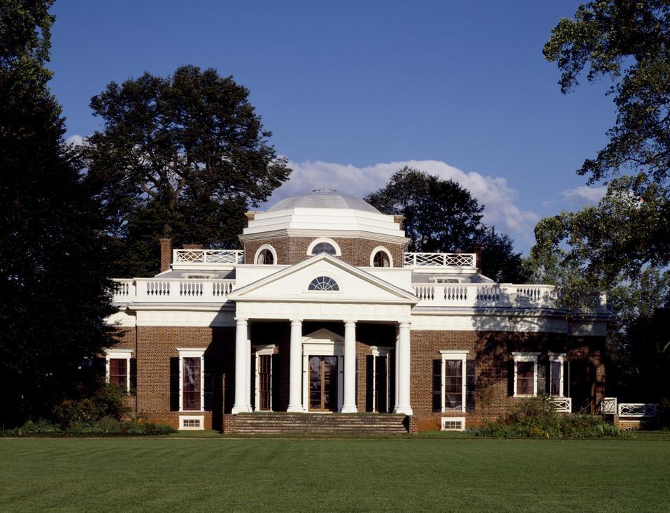 Thomas Jefferson home Monticello in Charlottesville, Virginia