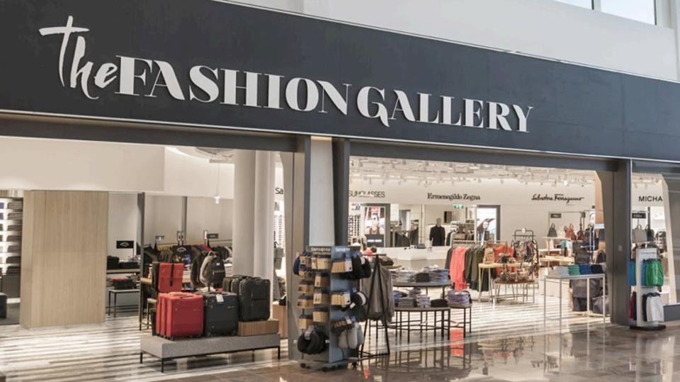 The Fashion Gallery store in an airport.
