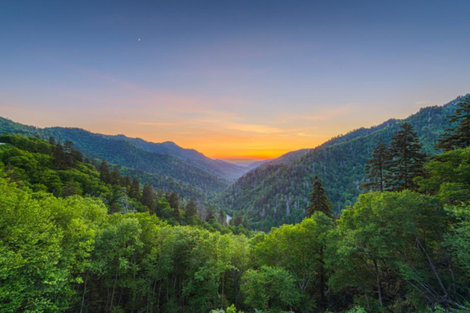 Newfound Gap in the Great Smoky Mountains