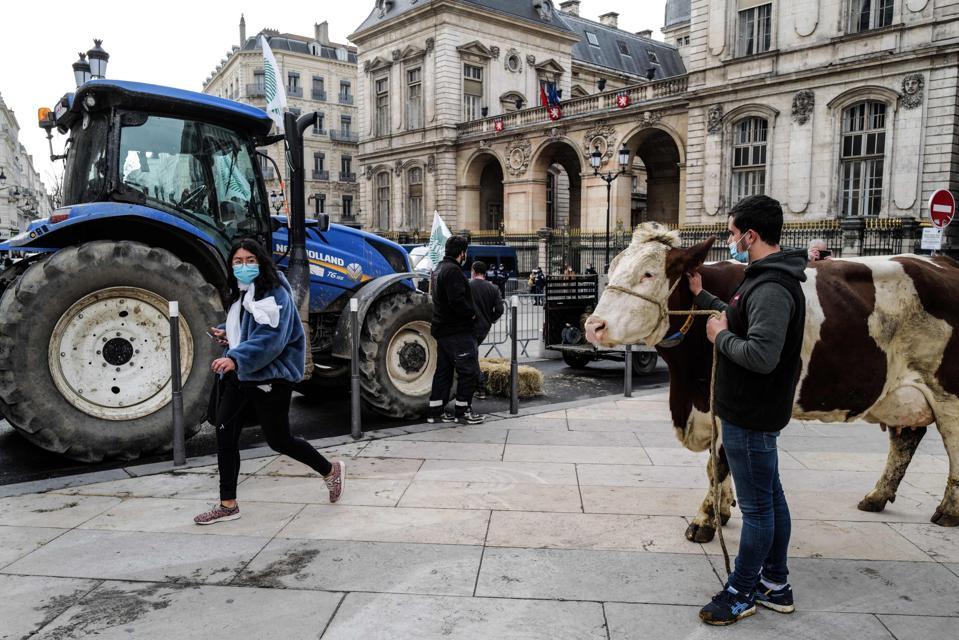 FRANCE-POLITICS-AGRICULTURE-MEAT-DEMO