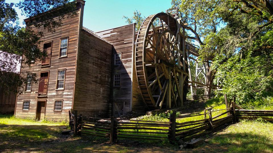 Wide Angle Bale Grist Mill State Historic Park Calistoga California