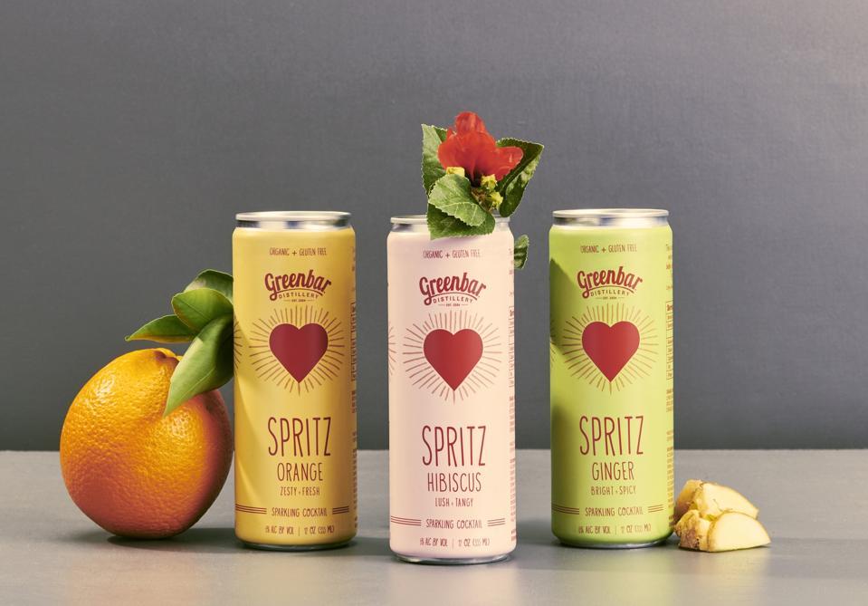 Canned Greenbar Distillery Orange, Hibiscus and Ginger Spritzes