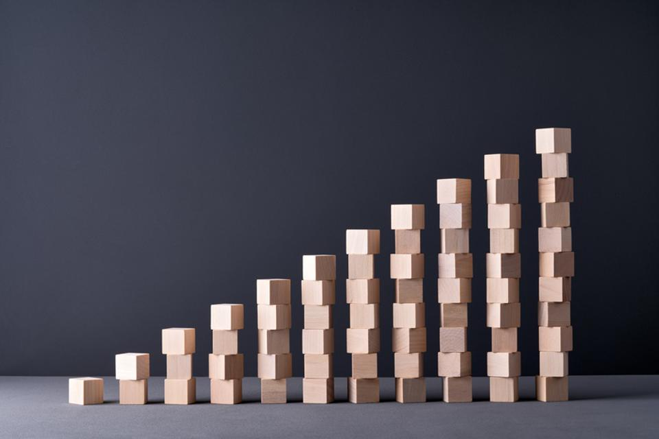 Stacking Wood Blocks Bar Graph