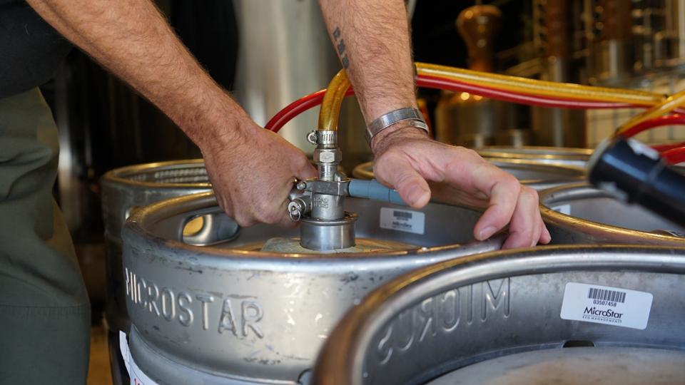 Keg of beer at Rebru