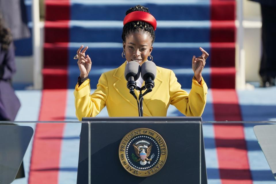 Amanda Gorman poetry poem ″The Hill We Climb″ at Joe Biden President Inauguration Ceremony