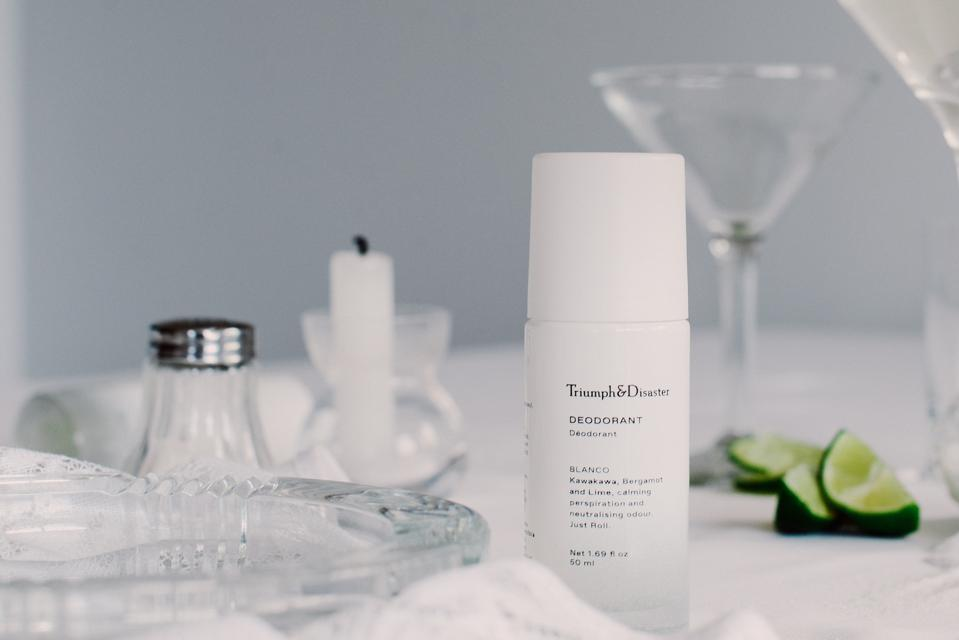 Blanco Deodorant by Triumph & Disaster, infused with Bergamot, Kawakawa and Lime to calm perspiration and neutralise our body's odor.