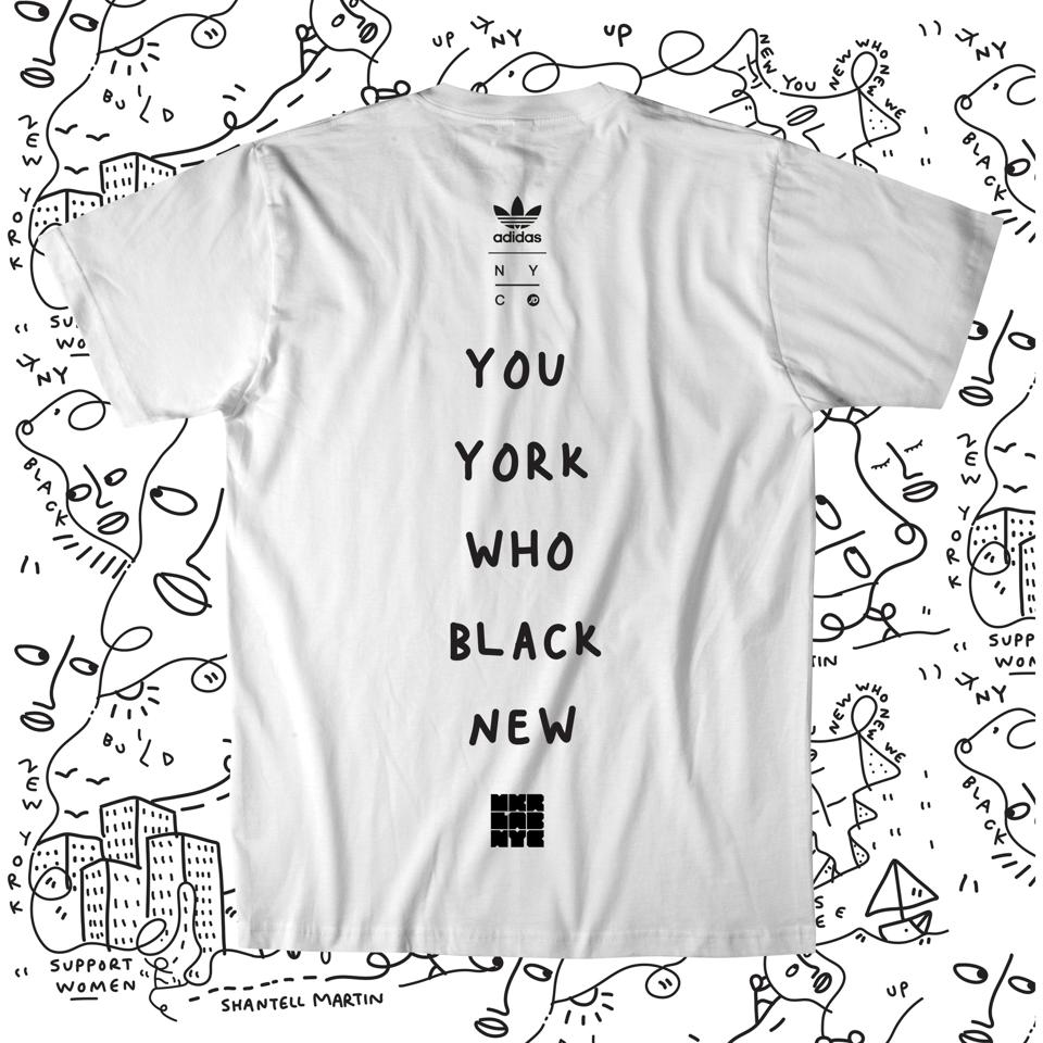 Adidas MakerLab activation t-shirt in collaboration with Shantell Martin, visual artist.