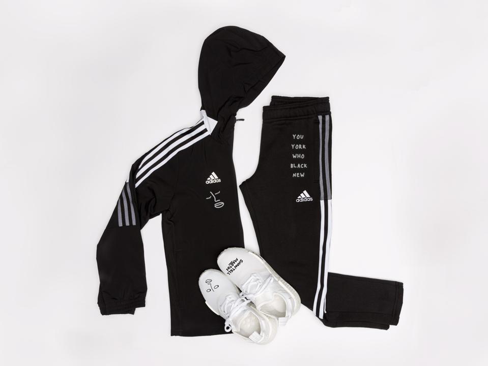 Adidas MakerLab collaboration with Shantell Martin, visual artist.