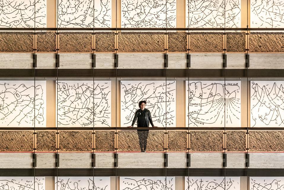 Shantell Martin, New York City Ballet installation.