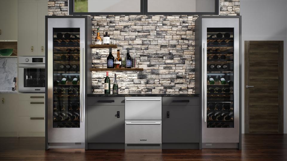 Signature Kitchen Suites' convertible refrigerator drawers