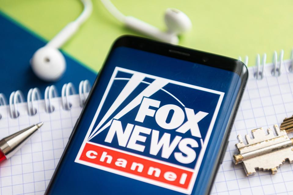 Fox News logo on smartphone