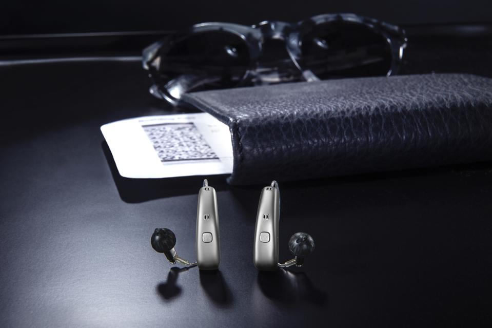 Pair of Widex Moment hearing aids