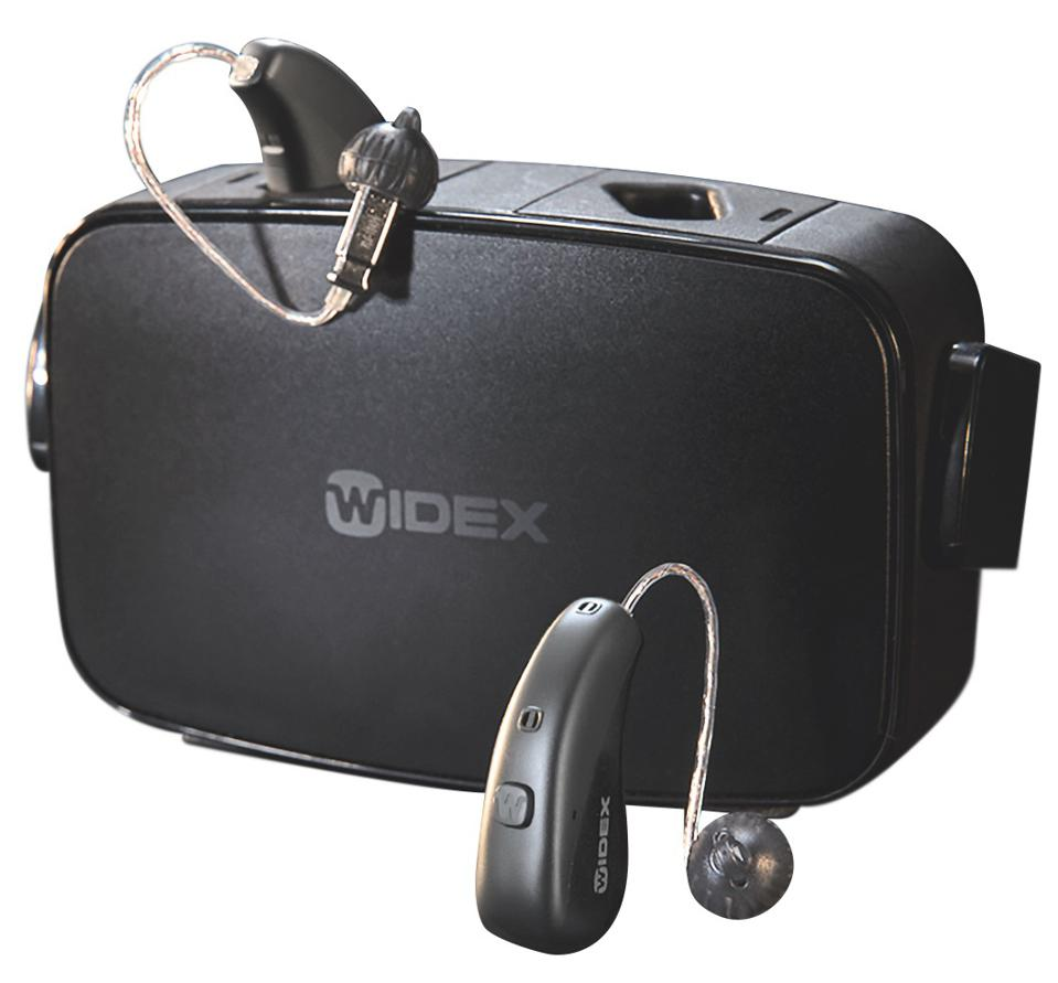 Charging cradle and Widex Moment hearing aids