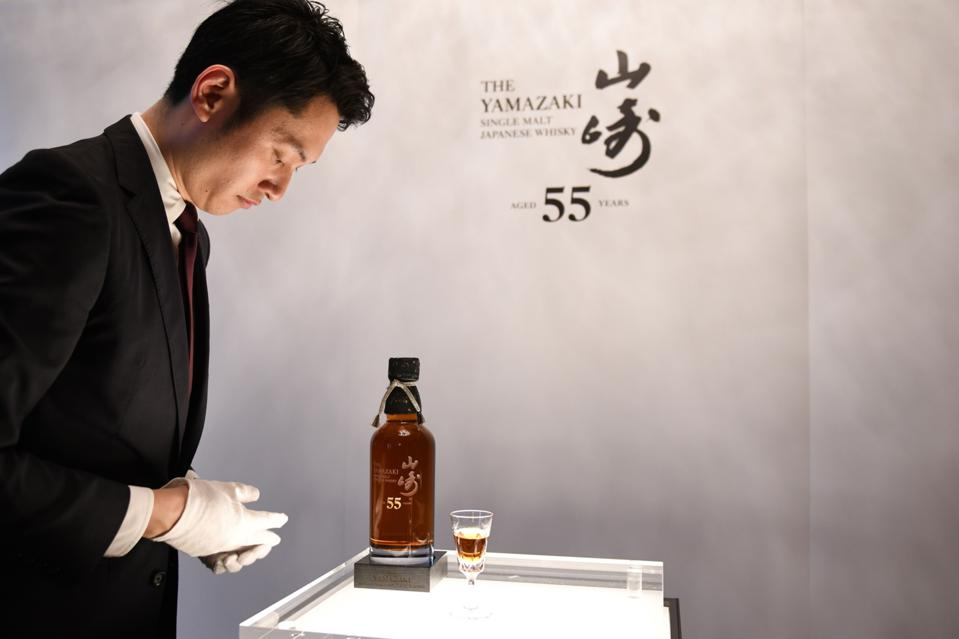 Suntory News Conference Ahead of Yamazaki 55 Whisky Release
