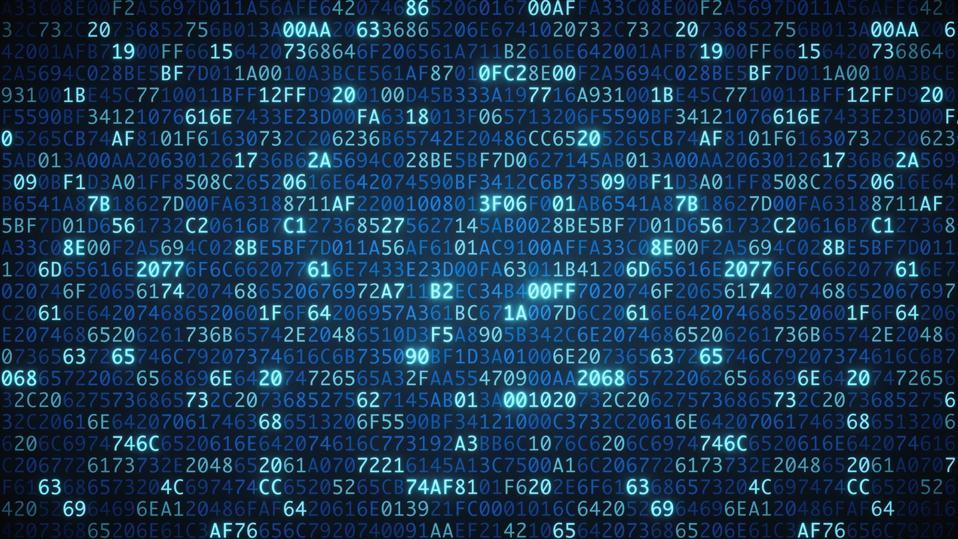 Blue computer code wallpaper simple