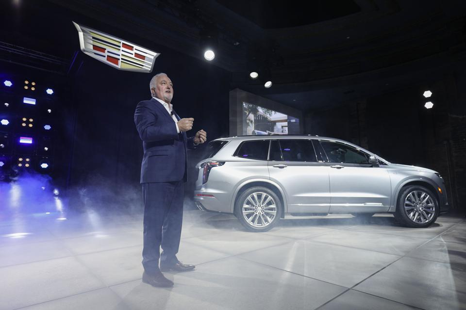 Steve Carlisle, president of GM North America, at the 2019 Detroit auto show.