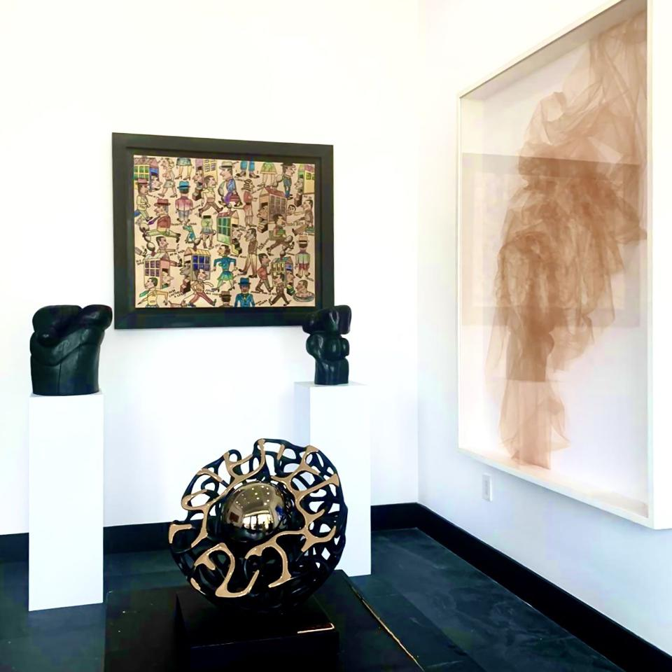 Art on display at Boccara Art Gallery in Miami