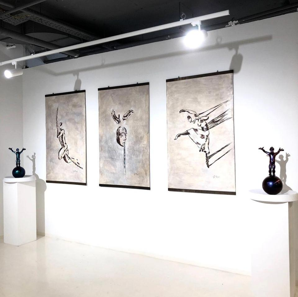 Art on display at Boccara Art Gallery in Moscow