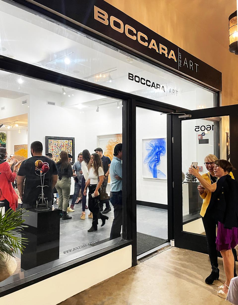 Exhibition opening at Boccara Art Gallery in Miami