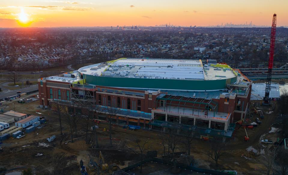 UBS Arena under construction.
