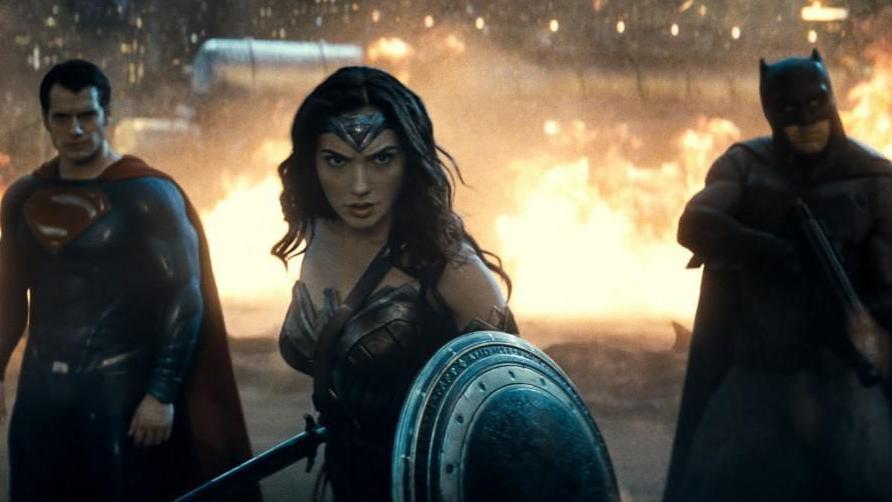 Henry Cavill, Gal Gadot and Ben Affleck in 'Batman v Superman: Dawn of Justice'