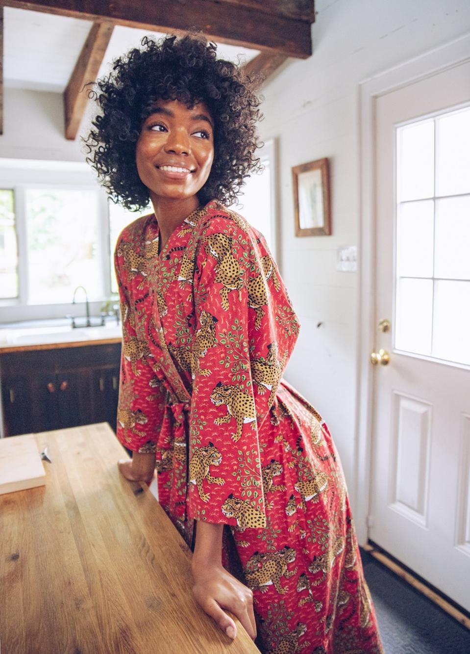 Printfresh Bagheera Scarlet Robe