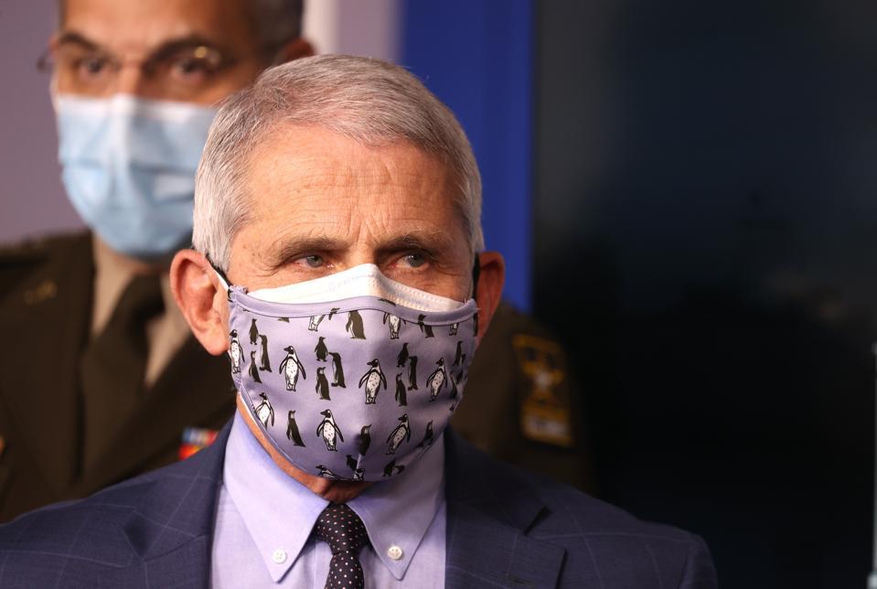 Anthony Fauci, double masking.