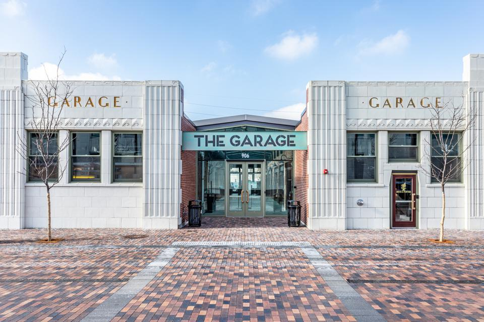 the Garage food hall entrance