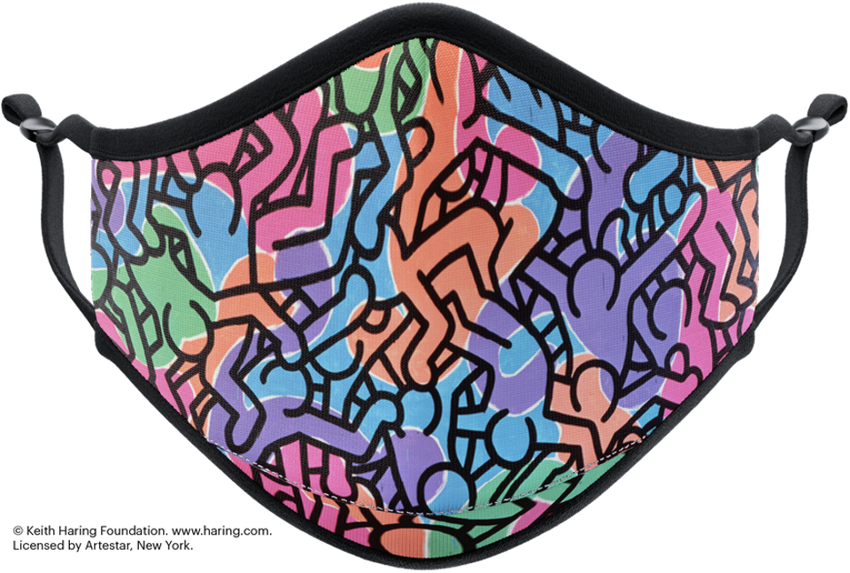 Vistaprint's face mask featuring a Keith Haring mask
