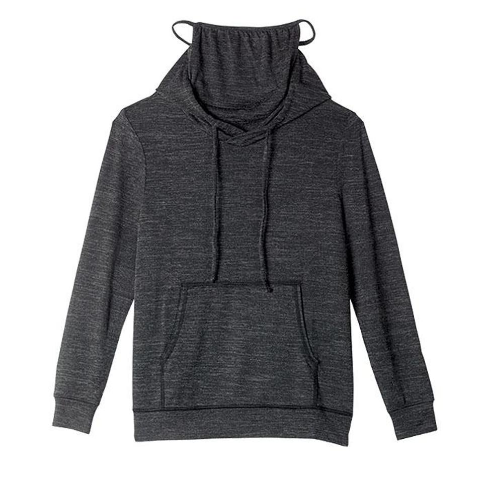 Avon's hoodie with a built-in face mask