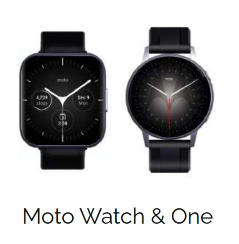 Fotos promocionales de los dos próximos relojes inteligentes de Moto.
