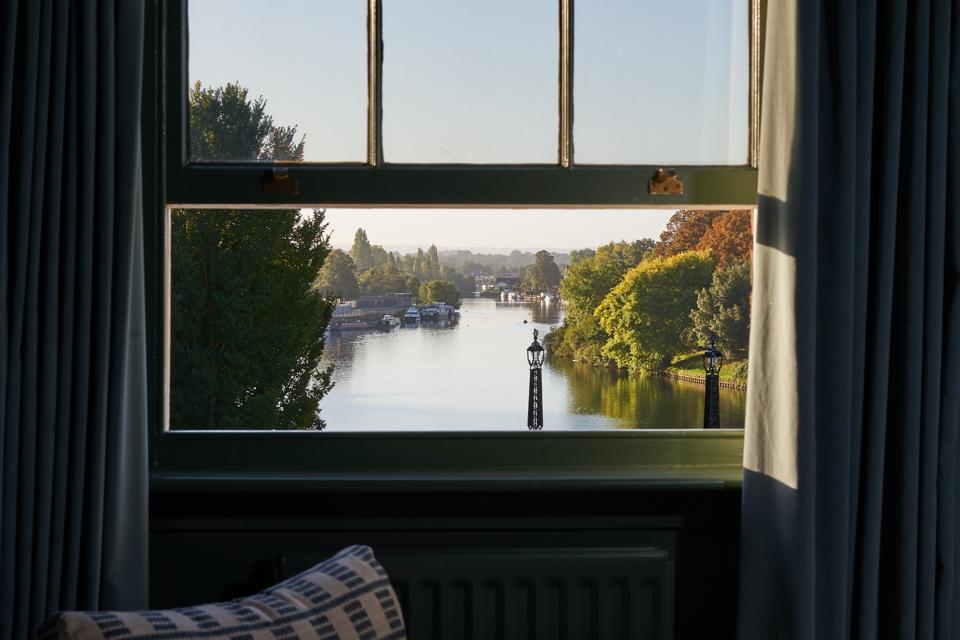 River Thames through a window