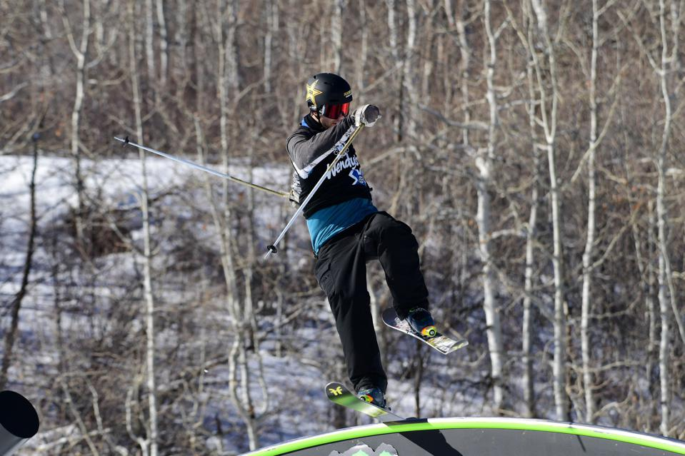 Alex Hall competing in Jeep Men's Ski Slopestyle during X Games Aspen 2021