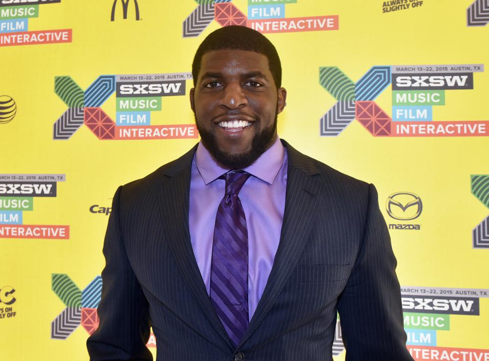 Former NFL player Emmanuel Acho attends 2015 SXSW Music, Film + Interactive Festival