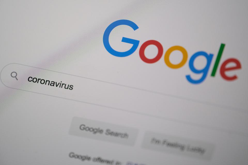 Google search for 'coronavirus'.